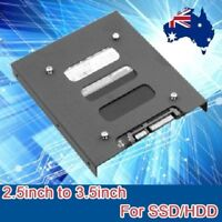"2.5"" to 3.5"" SSD HDD PC Hard Disk Drive Dock Adapter Bracket Metal Mounting Kit"