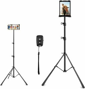 **FREE SHIPPING** Phone & Tablet Tripod Stand for 4 - 12 inch Sizes 360° REMOTE