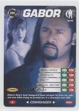 2007 007 Spy Cards: Commander #254 Gabor Gaming Card 1i3
