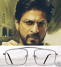 Raees Inspired Silver Metallic Aviator Sunglasses With Clear Lens