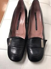 Fratelli Rossetti moccasin ,black leather, women's shoe size, EU 38/8