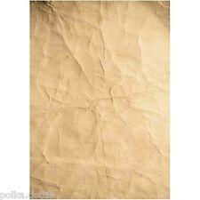 10 A4 21 x 30cm fogli di carta Kraft senza acidi sgualcita Rugoso look invecchiato