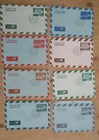 Israel 8 Aerogramme / Luftpostbriefe mit Ersttagsstempel ex 954 - 1959; #o993
