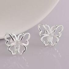 Valentine Fashion Ear Studs Silver Plated Cuff Earrings Butterfly