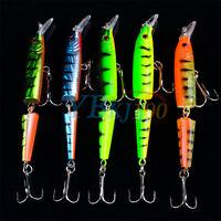 Lot 5pc Multi-jointed Minnow Fishing Lures Bait Bait CrankBait Tackle 10.5cm