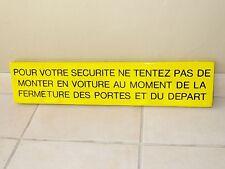 ancienne plaque emaillee TAXI METRO PARIS enamel art populaire garage voiture