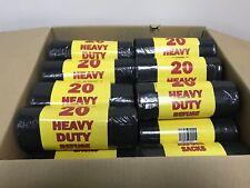 400 Black Heavy Duty Refuse Rubbish Bin Bag Sack