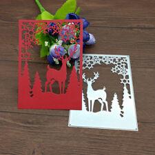 Christmas Tree Elk Deer Snowflake Metal Cutting Dies Stencil Scrapbook Embossing