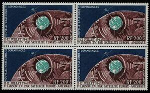 Neukaledonien 1962 - Mi-Nr. 386 ** - MNH - Viererblock - Raumfahrt / Space