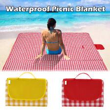 195x200cm Picnic Blanket Beach Mat Camping Rug Family Travel Folding Waterproof