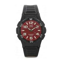 Q&Q VP84J015Y By Citizen Black Resin Red Dial Analog Sports Watch