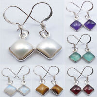 925 Sterling Silver Original Stones Earrings ! Halloween Jewelry New