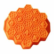 Honeycomb Soap Mold Silicone Cake Chocolate Bar Loaf Candle Food Mould Tool DIY