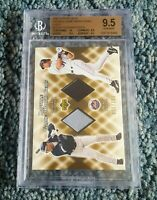 2002 UD Double Game Worn Gems GOLD /100 Roberto Alomar & Mike Piazza HOF BGS 9.5