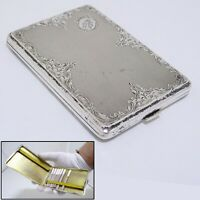 Antique 1887 Silver 800 Engraved CIGARETTE CASE 134 Grams