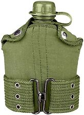 Military & Scout Plastic  1 Quart Canteen With Cover & Pistol Belt 588