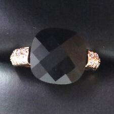 Vintage Diamond Black Onyx Ring Engagement Wedding Jewelry Yellow Gold Size 6.5