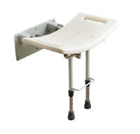 Wall Mounted Shower Seat Stool - With Or Without Legs
