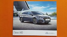Hyundai i40 S SE Nav Premium car sales brochure catalogue July 2015 MINT i 40