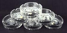 Zizo 60107 Glass Ashtrays, Set Of 6, New York City Skyline, Black/White Artwork