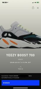 Adidas Yeezy Boost 700 Wave Runner UK 10 Confirmed Order Solid Grey/Chalk White