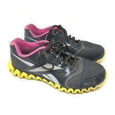 Women's Reebok Zignano Fly 2 Shoes Sneaker Size 7.5 Running Gray Yellow Pink H15