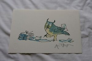 Hand signed Quentin Blake print