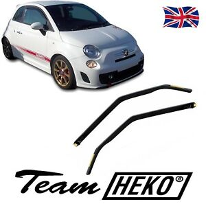 SET OF FRONT WIND DEFLECTORS for FIAT 500 / ABARTH 2007-up 2-pc