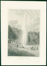 1822 Original Antique Print -FRANCE View of FOUNTAIN OF ST CLOUD Pond  (45)