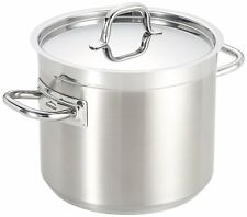 Lacor Chef-Luxe Low Stock Pot with Lid, Silver, 24 cm  - New