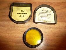 Lifa Orthocolor Nr. 2 Filter Verlängerungsfaktor Photographie Photographica