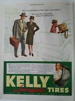 1945 Kelly Springfield tires female military army uniform Underhill vintage ad