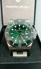 *UK* PAGANI DESIGN AUTOMATIC PD1639 HULK DIVERS WATCH NH35A SUBMARINER HOMAGE