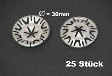 25 x Blechmutter Klemmscheiben Metall Clips Unterboden Auspuff für VW AUDI Skoda
