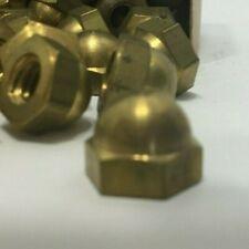 "Vintage 1/4"" x 20 Brass Cap Nuts Pheoll Chicago"