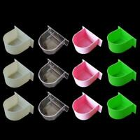 12Pcs Bird Cage Food Boxes Trough Parrot    Feeder Food Water Feeding Bowl Cup