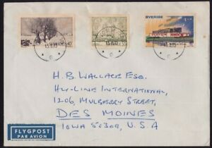 SWEDEN 1975 COVER to USA @D6196