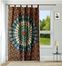 Indian cotton mandala handmade door window curtain drape hanging bohemian single