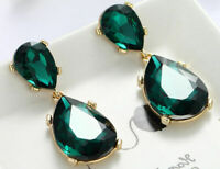 Fashion Green Crystal Rhinestone Ear Drop Dangle Stud long Earrings New