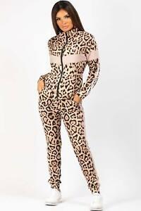Leopard Print Zip Front Loungewear Co Ord Set