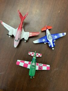 Disney Toy Airplane By Mattel  Lot Of 3