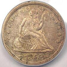 1855 Seated Liberty Quarter 25C - ANACS AU53 - Rare Certified Coin