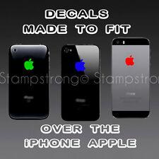 ( 4x ) Apple Logo Skin Sticker Decal Vinyl Film for iPhone 3 4 4S 5 5 5S