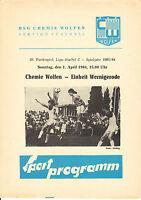 DDR-Liga 83/84 BSG Chemie Wolfen - BSG Einheit Wernigerode, 01.04.1984