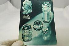 Steinheil Munchen lens camera catalog Accessory List Booklet vintage Germany