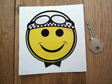Smiley face casque Protecteur Voiture Classique Vélo Autocollant Racing course moto racer