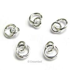 10x Sterling Silver Link Jump Ring 4mm 3mm Connector 925 fj003w