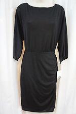 Donna Morgan Dress Sz 4 Black High Neck Semi Sheer Career Cocktail Sheath Dress