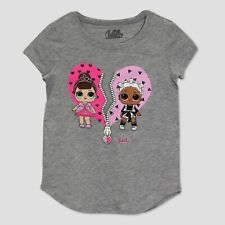 MGA LOL Surprise 1 Girls T Shirt Tee Glitterati Doll Ball Charcoal NEW M-7-8