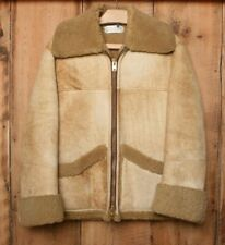 Vintage SPORTSMAN MFG. Sheepskin Shearling Lined Ranch Coat Jacket Sz. 38